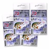 Wire-Trace-Leader-50cm-Pike-Sea-Zander-Fishing-Lure-Barrel-Swivel-Link-Hook-Line