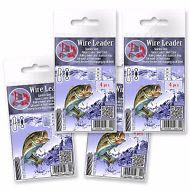 Wire-Trace-Leader-50cm-50lb-Pike-Sea-Fishing-Tackle-Rolling-Swivel-Hook-Line
