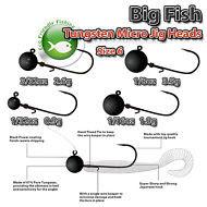 Micro-Jig-Heads-Tungsten-size-6-0-9-3-5g-LRF-Fishing-Drop-Shot-Soft-Lure-Kit