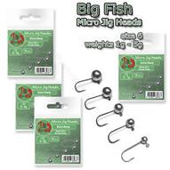 Micro Jig Heads size 6 1-5g Soft Lure Drop Shot Perch Fishing